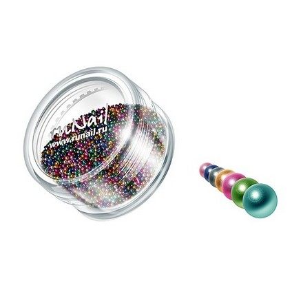 ruNail, дизайн для ногтей: бульонки 0320 (разноцветный) runail дизайн для ногтей ракушки 0285