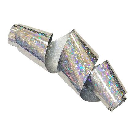 Купить De.Lux, Фольга переводная голографическая «Метель», серебряная