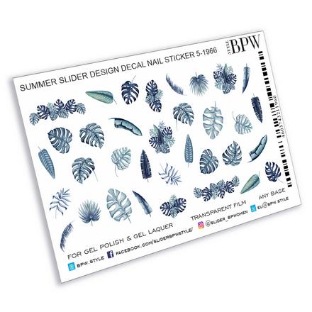 BPW.style, Слайдер-дизайн «Голубые листья» №5-1966 фото