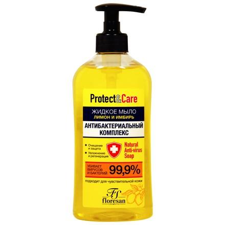 Купить Floresan, Жидкое мыло для рук «Лимон и имбирь», 500 мл