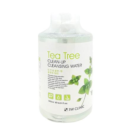 3W Clinic, Очищающая вода Tea Tree, 500 мл