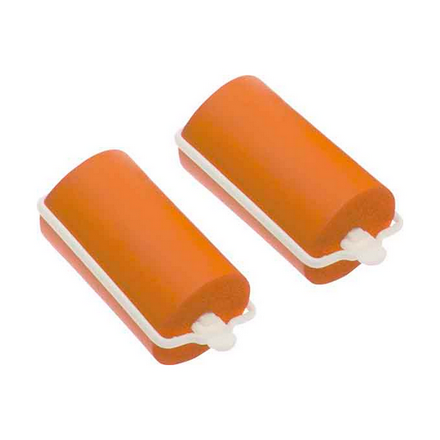 Dewal, Бигуди резиновые, оранжевые, 32x70 мм фото