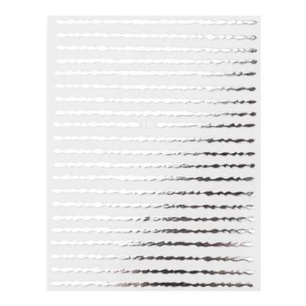 Купить Monami Professional, Наклейки «Волна», серебро