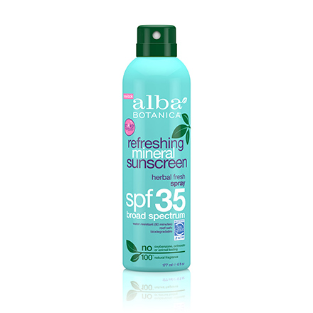 Alba Botanica, Спрей Refreshing Mineral Sunscreen SPF 35, 171 мл
