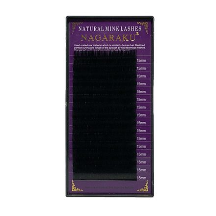 Купить NAGARAKU, Ресницы на ленте Natural Mink, 15/0, 10 мм, D-изгиб