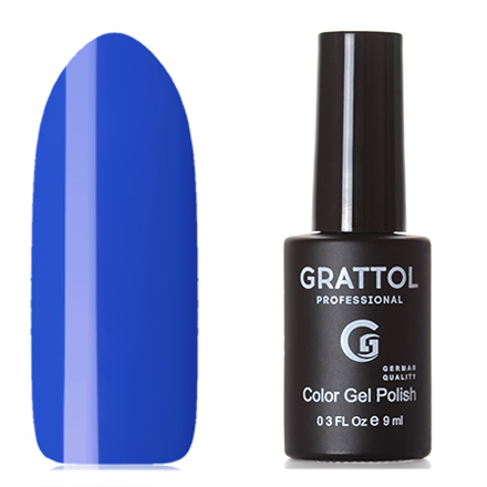 Grattol, Гель-лак Classic Collection №090, Ultramarine grattol топ rubber top gel 9 мл
