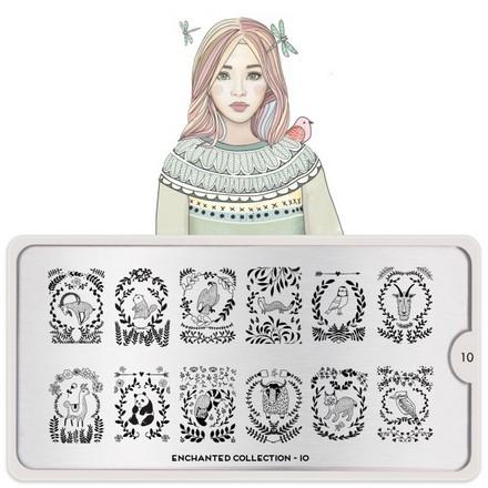 MoYou - London, Плитка для стемпинга Enchanted 10 moyou london плитка для стемпинга fairytale collection 12