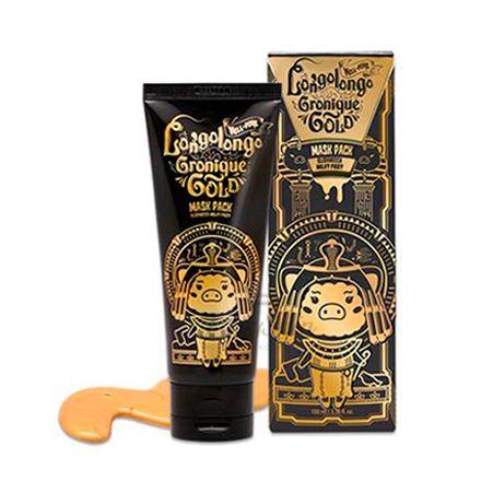 Elizavecca, Маска-пленка Hell-pore Longolongo Gronique Gold, 100 млМаски<br>Золотая маска с пептидным комплексом для омоложения кожи лица.