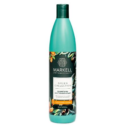 Markell, Шампунь Green Collection, восстанавливающий, 500 млШампуни для волос<br>Шампунь для деликатного очищения и предотвращения ломкости волос. Подходит для ежедневного применения.