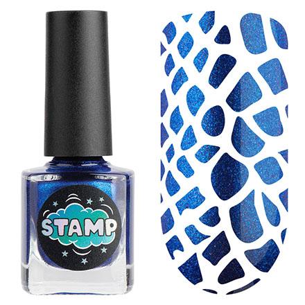Купить IRISK, Лак-краска для стемпинга Chrome №008, Синий