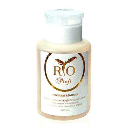 Rio Profi, Универсальная жидкость для снятия гель-лака, геля, биогеля и акрила, 200 мл