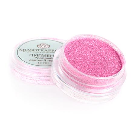 KrasotkaPro, Втирка «Неон», розовый светлыйВтирка для ногтей<br>Втирка для дизайна ногтей предназначена для создания новых цветов и оттенков (0,5 г).