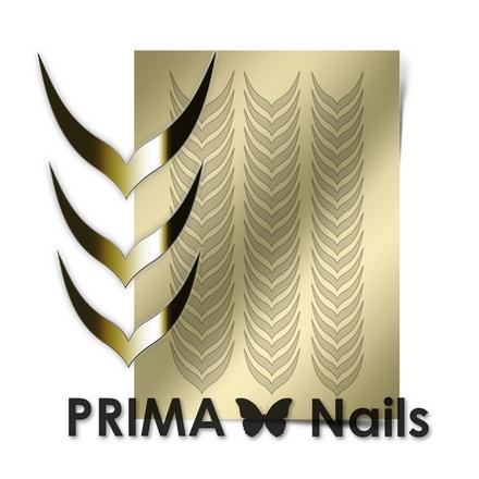 Prima Nails, Металлизированные наклейки CL-004, золото