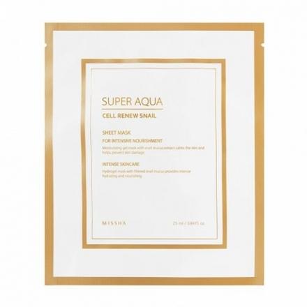 Missha, Маска для лица Super Aqua Cell Renew Snail, 28 г фото