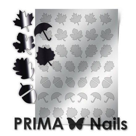 Prima Nails, Металлизированные наклейки FL-06, серебро
