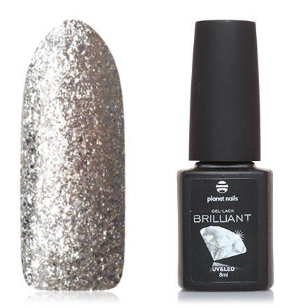 Planet Nails, Гель-лак Brilliant №701Planet Nails<br>Гель-лак (8 мл) на прозрачной подложке, с серебряной фольгой, плотный.<br><br>Цвет: Серебряный<br>Объем мл: 8.00