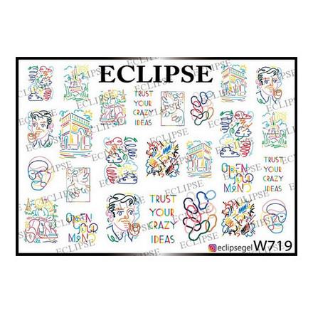 Купить Eclipse, Слайдер-дизайн для ногтей W №719