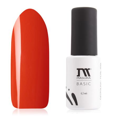 Masura, Гель-лак Basic №294-80, Сочная папайяMasura трехфазный шеллак<br>Гель-лак (6,5 мл) ярко-оранжевый, без блесток и перламутра, плотный.<br><br>Цвет: Оранжевый<br>Объем мл: 6.50