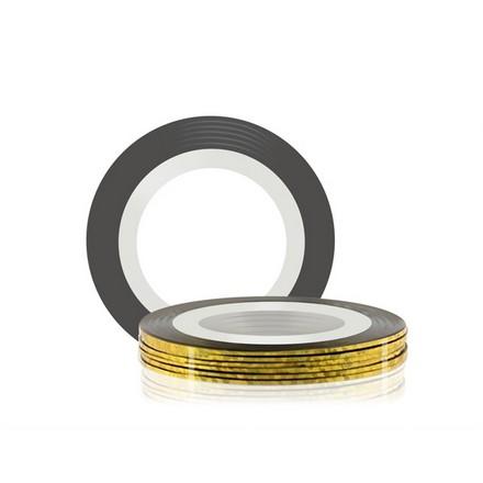 Купить RuNail, Самоклеющаяся лента для дизайна ногтей, золото, 20 м