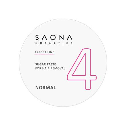 Saona Cosmetics, Сахарная паста для депиляции Normal, 200 г
