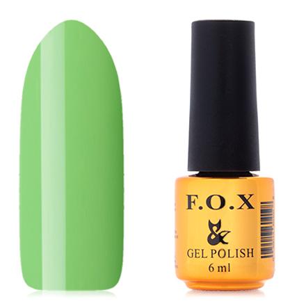 FOX, Гель-лак Pigment №007F.O.X<br>Гель-лак (6 мл) яблочно-зеленый, без перламутра и блесток, плотный.<br><br>Цвет: Зеленый<br>Объем мл: 6.00