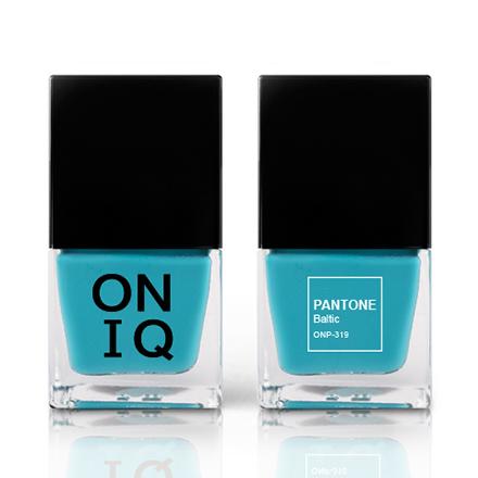 Купить ONIQ, Лак для ногтей Pantone, Baltic, Синий