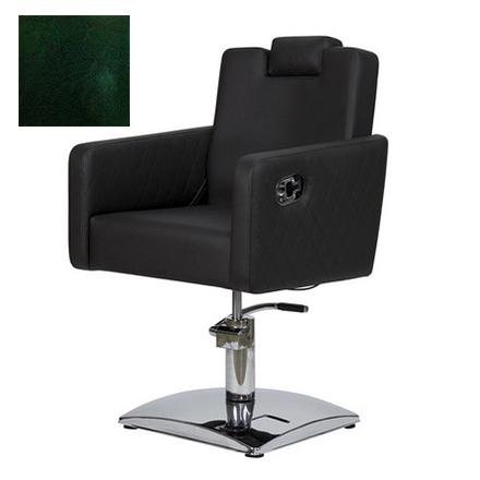 Купить Мэдисон, Кресло парикмахерское «МД-166» гидравлическое, хромированное, изумрудно-черное
