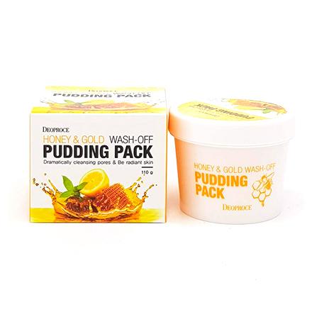 Deoproce, Маска-пудинг для лица Honey&Gold, 110 гМаски<br>Маска с медом и золотом для увлажнения и питания кожи.