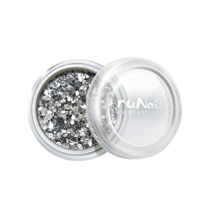 ruNail, дизайн для ногтей: конфетти (серебряный) runail дизайн для ногтей ракушки 0285