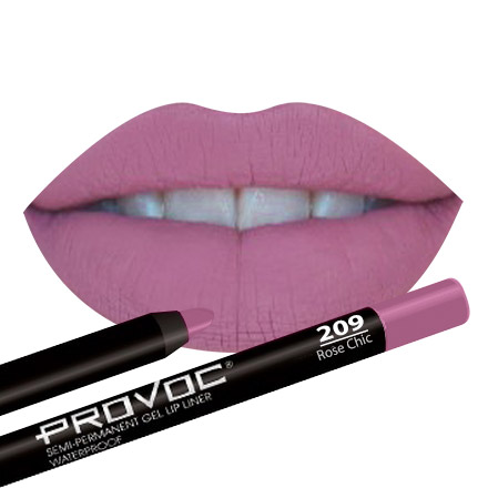 Provoc, Гелевая подводка-карандаш для губ №209, цвет натуральный темно-розовый