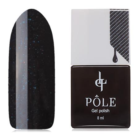 POLE, Гель-лак №122, Ночной блескPOLE<br>Гель-лак (8 мл) черный, с синими микроблестками, плотный.<br><br>Цвет: Черный<br>Объем мл: 8.00