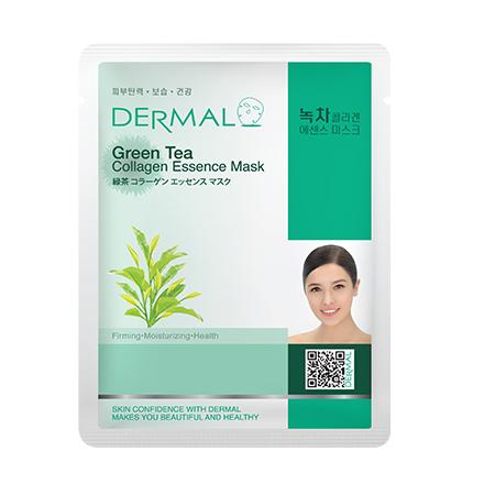 Купить Dermal, Маска с зеленым чаем и коллагеном, 23 г