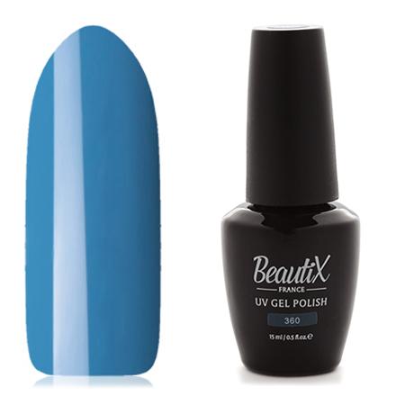 Beautix, Гель-лак №360, 15 млBeautix<br>Гель-лак (15 мл) серо-голубой, без перламутра и блесток, плотный.<br><br>Цвет: Синий<br>Объем мл: 15.00
