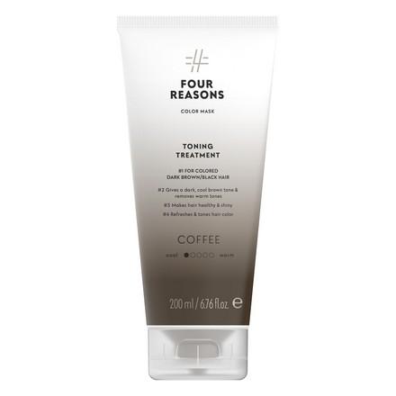 Four Reasons, Маска для волос Toning Treatment Coffee, 200 мл four reasons маска для волос toning treatment coffee 200 мл
