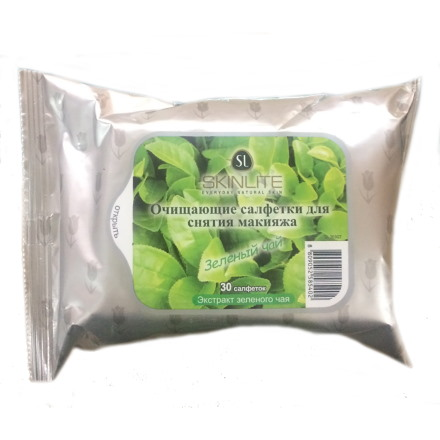 Купить Skinlite, Салфетки для лица «Зеленый чай», 30 шт.