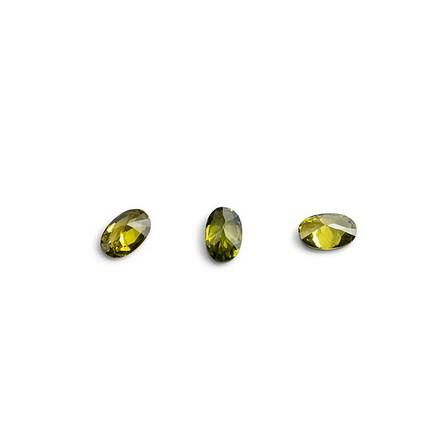 Купить TNL, Кристаллы «Овал» №1, зеленые, 10 шт., TNL Professional