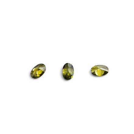 TNL, Кристаллы «Овал» №1, зеленые, 10 шт. tnl кристаллы овал 1 темно желтые 10 шт