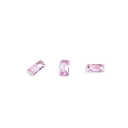 Купить TNL, Кристаллы «Багет» №2, розовые, 10 шт., TNL Professional