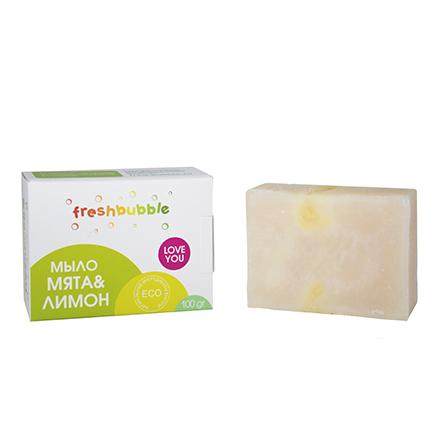 Купить Freshbubble, Мыло кусковое «Мята и лимон», 100 г