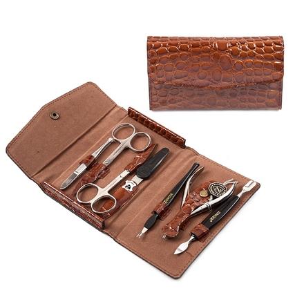 Zinger, Маникюрный набор, MS-F2-S, коричневый