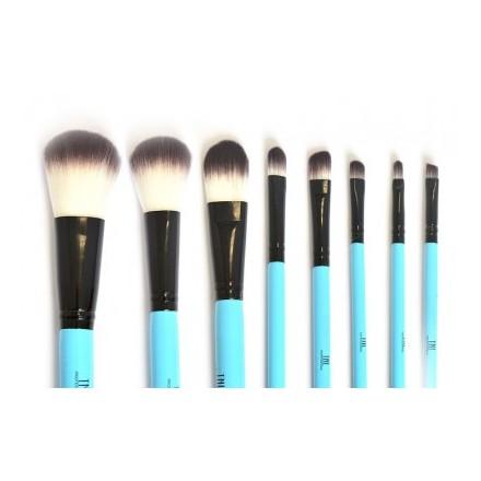 TNL, Набор кистей для макияжа в голубой тубе tnl набор кистей 3 шт