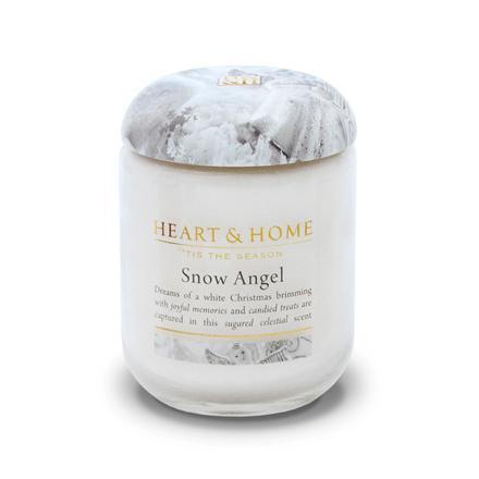 Heart&Home, Свеча «Снежный ангел», маленькая, 110 гАроматические свечи<br>Окунитесь в сладкий и завораживающий аромат, созданный чтобы наслаждаться мечтами о светлом Рождестве.