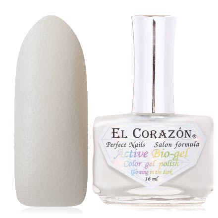 EL Corazon, Активный биогель Luminous №423/1141, Swan fidelityEl Corazon <br>Лак для ногтей (16 мл) белый, без перламутра и блесток, плотный.<br><br>Цвет: Белый<br>Объем мл: 16.00