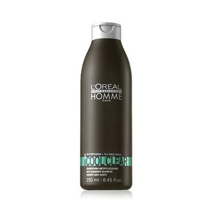 Loreal, Homme Cool Clear Anti-Dandruff Shampoo, Мужской шампунь от перхоти, 250 мл (LOreal)