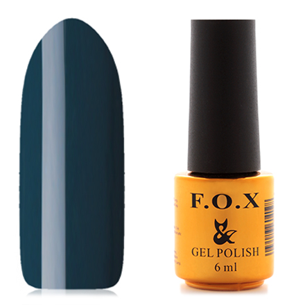 FOX, Гель-лак Pigment №051F.O.X<br>Гель-лак (6 мл) приглушенный синий, без перламутра и блесток, плотный.