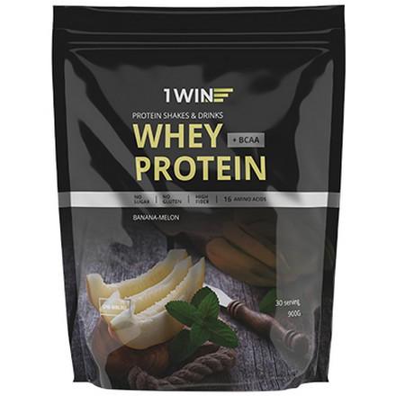 1WIN, Протеин Whey BCAA «Банан и дыня», 900 г