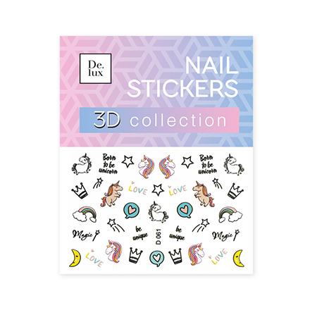 De.Lux, 3D-слайдер «Единороги» D061Слайдер-дизайн<br>3D-слайдер для создания дизайна на ногтях.
