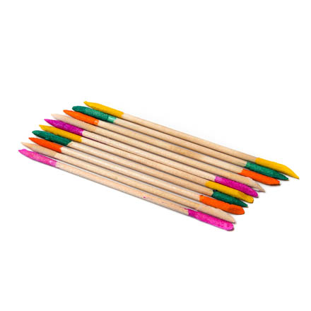 TNL, Апельсиновые палочки с абразивным наконечником 14 см, 10 шт.Маникюрные палочки<br>Палочки из апельсинового дерева для маникюра и педикюра.