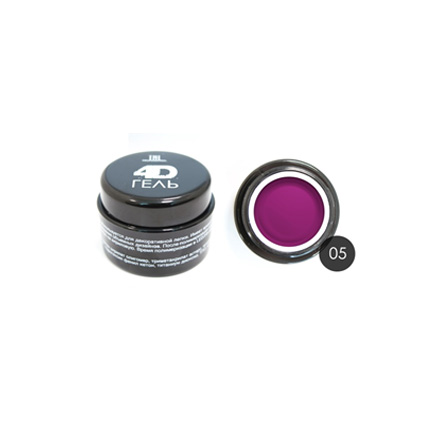 TNL, 4D-гель для дизайна ногтей №5, фуксия