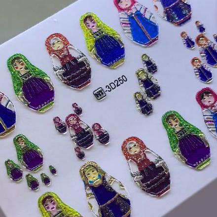 Купить AnnaTkacheva, 3D-слайдерCrystalHT№250 «Матрешка. Матрешки», Anna Tkacheva